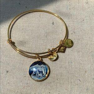 ALEX AND ANI gold polar bear bracelet